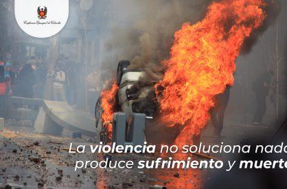 """""""La violencia no soluciona nada; produce sufrimiento y muerte"""": Episcopado"""