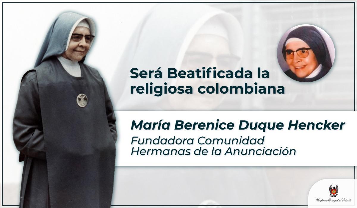 Iglesia colombiana celebra anuncio de beatificación de la hermana Berenice Duque